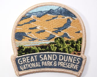 Official Great Sand Dunes National Park and Preserve Souvenir Patch Colorado Scrapbooking FREE SHIPPING