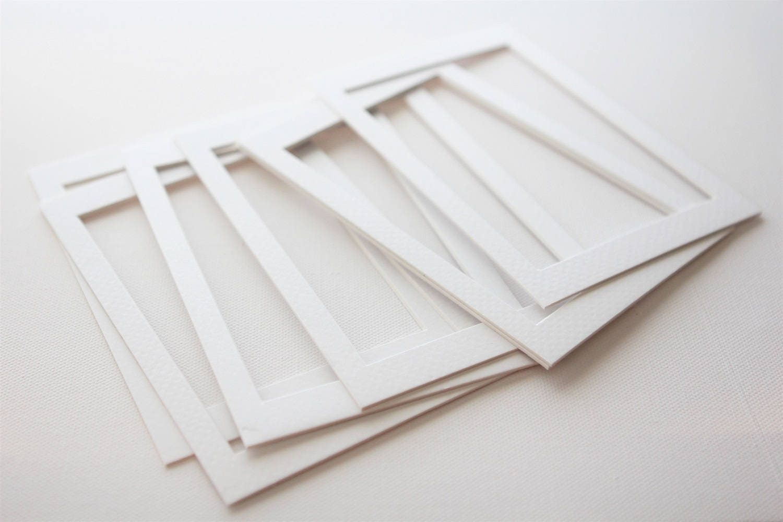 Acid Free White Beveled 4x6 Inch Photo Art Mats