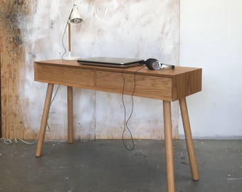 Office Desk table | Mid Century Scandinavian Desk Unit | Retro Oak Desk Table | Vintage Office Furniture