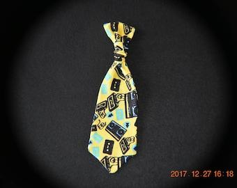 Handmade Mixed Tape Dog Collar Neck Tie