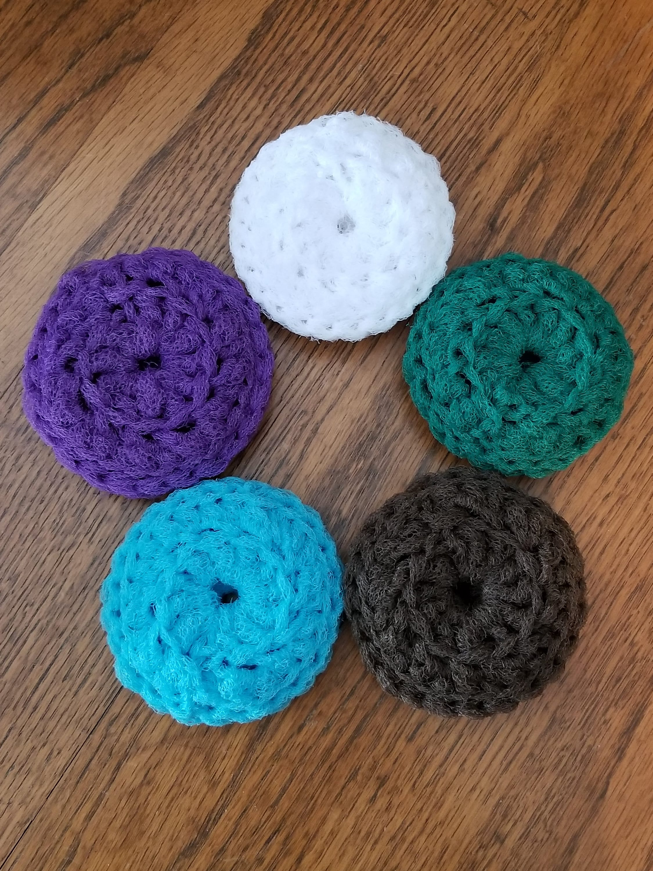 Set of 3 Crochet Scrubbies / Plastic Pot Scrubbers / Dish