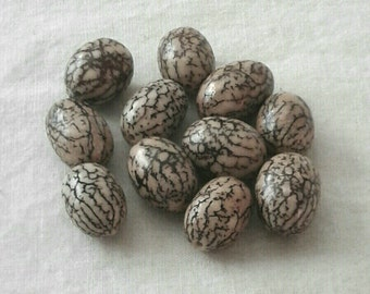 Oval Betel Nut Beads - 15 x 11 mm - Set of 12