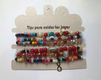 Artisan -Bohemian Urban Chic Bracelet - Set of 6 #B001