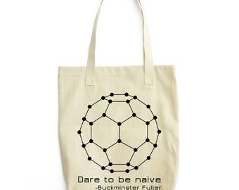 The Naive Fullerene science tote bag