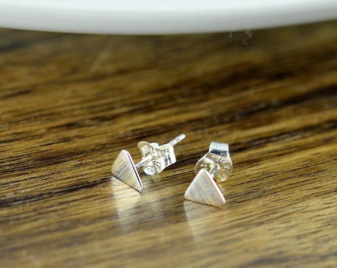 Geometric Jewelry - Sterling Silver Triangle Stud Triangle Earrings, Stud Earrings, Geometric Earrings, Triangle Earrings