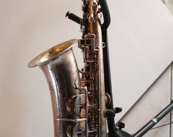Beautiful DOLNET Lefevre & Pigis Alto Saxophone Sax Very Old 1920s 1930s Henri Dolnet Paris Julius Rudolph Instruments Gotha Historical