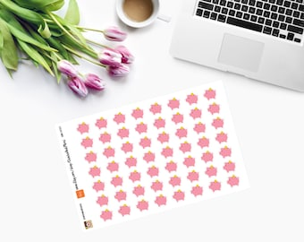 Small Piggy Bank Planner Stickers - CAM00114