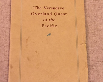 Antique Book, Rare Verendrye Overland Quest of the Pacific by Great Northern Railway, 1925 Book