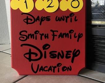 Disney Countdown - Large (customizable)