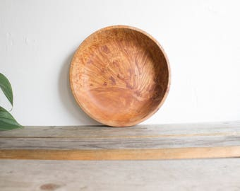 Natural Wood Serving Bowl