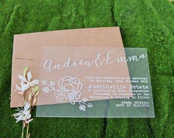 Wood Invitations