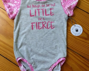 Pink and gray bodysuit with sayings and pink print trim and sleeves size 18 months