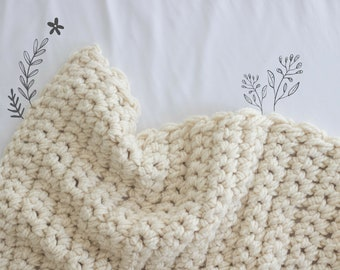 The Willow Blanket In Small, Chunky Throw Blanket, Crochet Blanket, Baby Blanket, Blankets And Throws, Baby Blanket Crochet, Chunky Knit