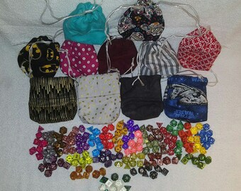 Dice Bag with Complete Dice Set