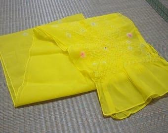 Yellow  Hekoobi / obi belt for kimono/ scarf