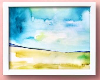 Landscape VIII - Original Watercolor Painting - Abstract Art