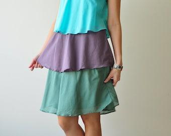 Magic Three  ...Blue  Green Cotton dress