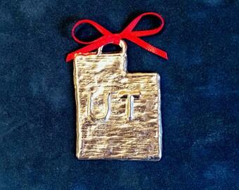 Pewter Utah Ornament (UT)