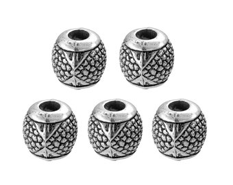 BULK 40pc Pkg CLEARANCE Antique Silver Tone Charm Beads - Large Hole Beads - European Beads (SP01922)