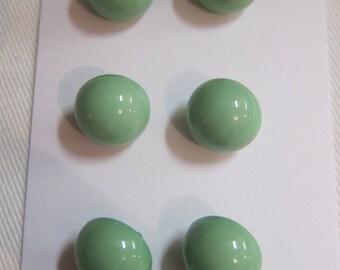 2 buttons top half ball Green