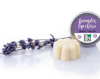 Lavender Lip chérie - vegan lip balm, all natural lip balm, handmade lip balm with lavender essential oil