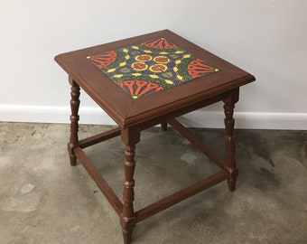 Quick View. Vintage California Catalina Tile Top Table