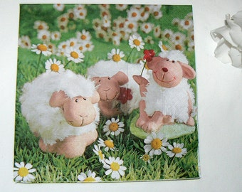 2  images Napkins from Holland sheep