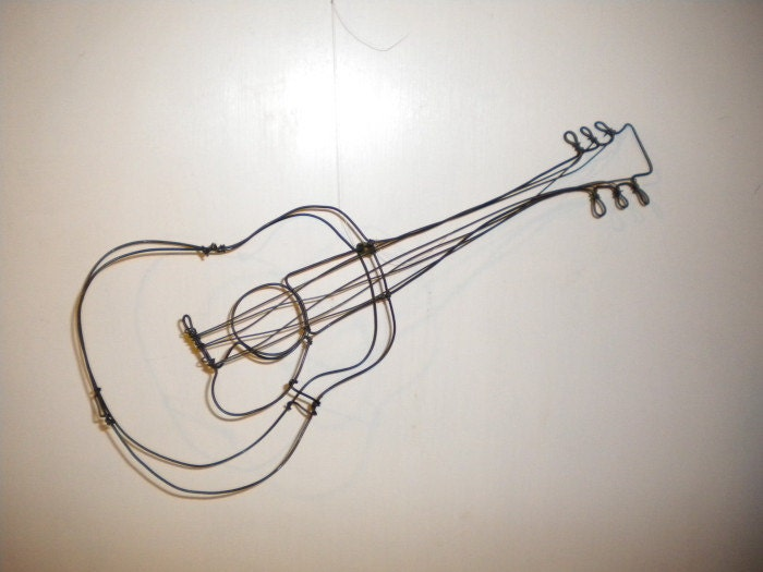 Guitar3 D Steel Wire Sculpture