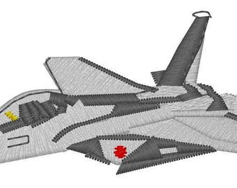 F18 Fighter Jet Embroidery File
