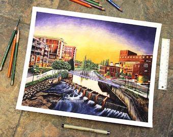 Downtown Greenville Fine Art Print