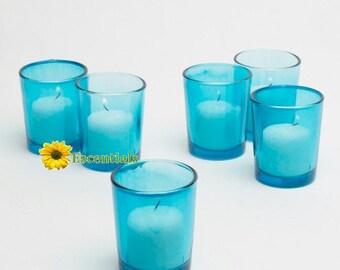 Turquoise Votive Candle Holders (Large)