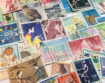 100+ Japanese Postage stamps - Japan stamps -  Nippon postage stamps - vintage