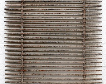 35x48 Antique Vintage Cast Iron Metal Gate Fence Panel Grille Industrial Factory