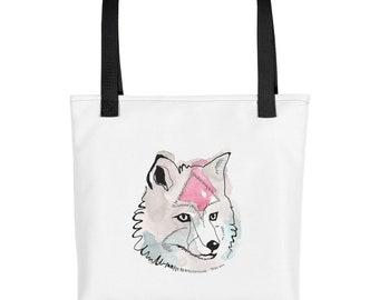 Tote Bag Print, Tote Bag Art, Boho, tote Bag Screenprint, Tote Bag Illustration, Watercolor, Canvas Tote Bag, Print, Dog, Art, Shopping, Geo