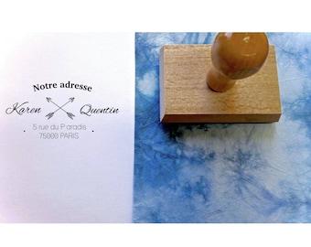 Stamp address KAREN & QUENTIN stamp personalized address stamp address stamp, custom wedding stationery