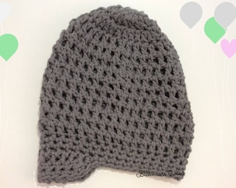 Gray summer baby boy Hat