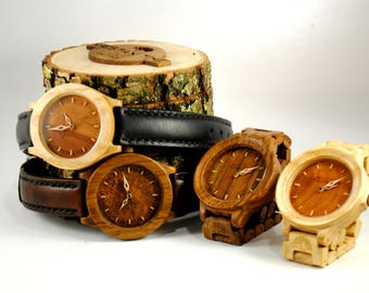 Wooden watch engraved watch gift christmas mens watch husband gift groomsmen gift wooden wristwatch gift from husband Personalized gift