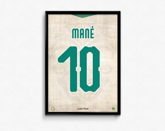 Sadio Mane - Senegal - World Cup 2018 Print Poster Russia Football Soccer