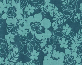 Mary Jane Sterling Cotton Fabric by the half yard