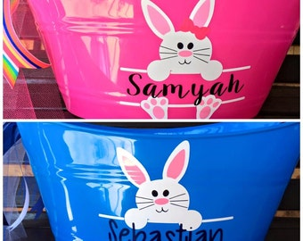 Personalized Bunny Tubs - Easter Basket - Bunny Basket - Best Easter Basket - Easter Egg Hunt
