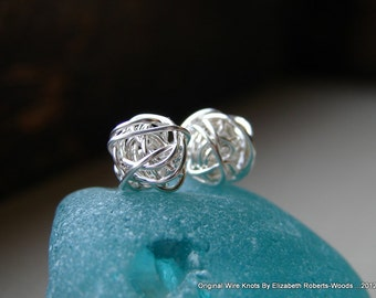 Sterling Silver Stud Knot Earrings #Silver Stud Earrings
