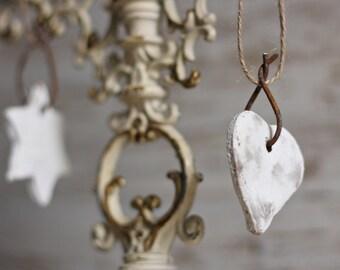 Rustic Christmas Salt Dough Ornaments - Salt Dough Hanging Ornaments -Home Christmas Decoration- Christmas Tree Decor - Christmas Room Decor