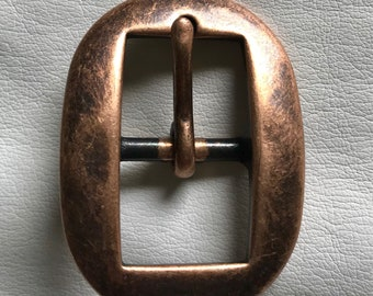 "3/4"" Antique Finish Copper Cart Buckle"