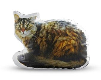 Tatiana the Cat Printed Pillow