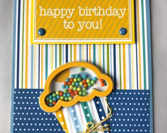 Dimensional Cupcake Shaker Birthday Card