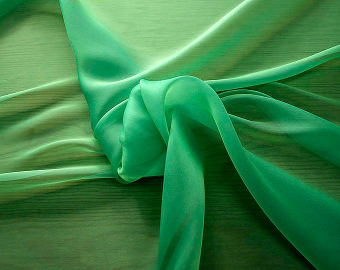 232080-Organdy natural Silk Cangiante 100%, litmus, width 135/140 cm, made in Italy, dry cleaning, weight 55 gr