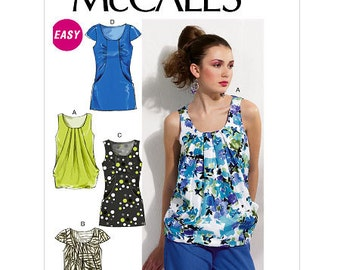 Misses' Lined Top McCall's Pattern M6565