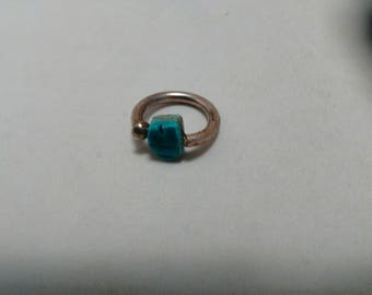 Faux Turquoise stone and Taxco sterling silver Ring size 5