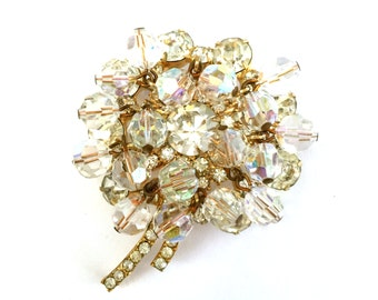 Juliana D&E Rhinestone Brooch, Ice Dangle Brooch, Crystal Dangles, Wedding Jewelry, Vintage Bridal, Special Occasion