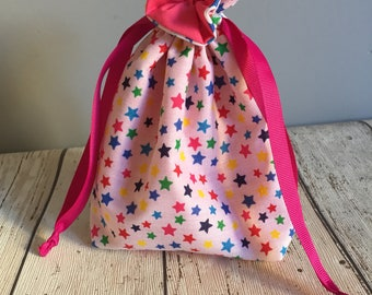 Small handmade drawstring gift bag